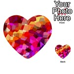 Geometric Fall Pattern Multi-purpose Cards (Heart)  Front 45