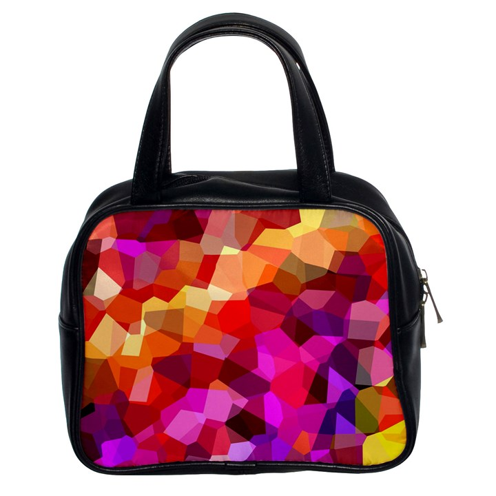 Geometric Fall Pattern Classic Handbags (2 Sides)