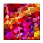 Geometric Fall Pattern Face Towel