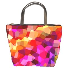Geometric Fall Pattern Bucket Bags by DanaeStudio