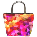 Geometric Fall Pattern Bucket Bags Front