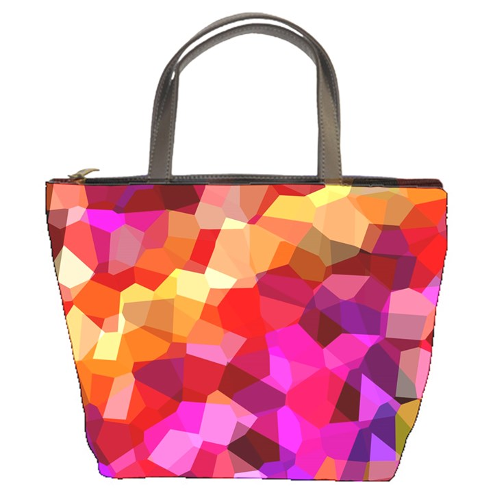 Geometric Fall Pattern Bucket Bags