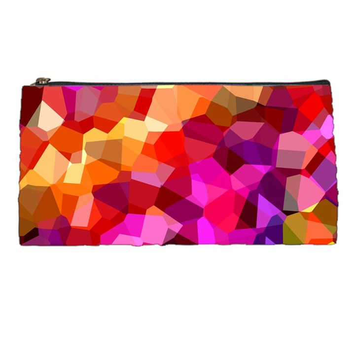 Geometric Fall Pattern Pencil Cases