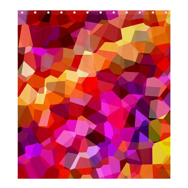 Geometric Fall Pattern Shower Curtain 66  x 72  (Large)