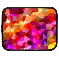 Geometric Fall Pattern Netbook Case (xl)  by DanaeStudio