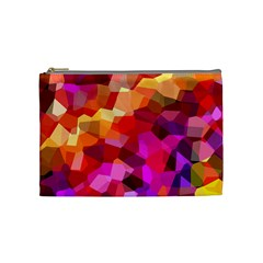 Geometric Fall Pattern Cosmetic Bag (medium)  by DanaeStudio
