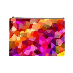 Geometric Fall Pattern Cosmetic Bag (large)  by DanaeStudio
