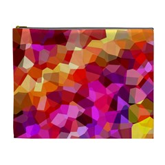 Geometric Fall Pattern Cosmetic Bag (xl) by DanaeStudio