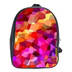 Geometric Fall Pattern School Bags(large)  by DanaeStudio