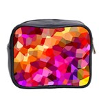 Geometric Fall Pattern Mini Toiletries Bag 2-Side Back