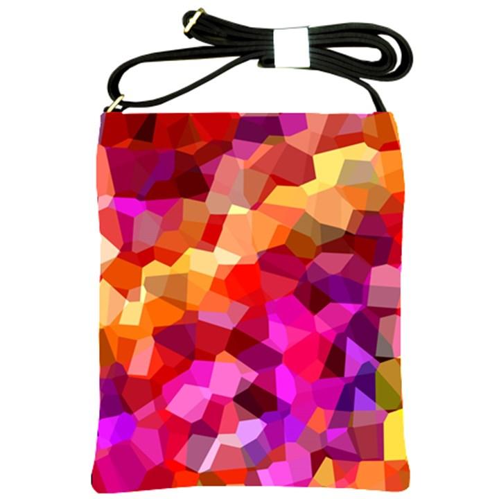 Geometric Fall Pattern Shoulder Sling Bags