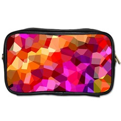Geometric Fall Pattern Toiletries Bags 2 Side by DanaeStudio
