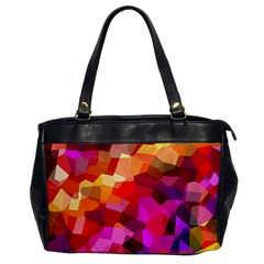 Geometric Fall Pattern Office Handbags by DanaeStudio