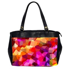 Geometric Fall Pattern Office Handbags (2 Sides)  by DanaeStudio