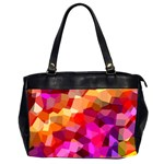 Geometric Fall Pattern Office Handbags (2 Sides)  Front
