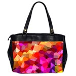 Geometric Fall Pattern Office Handbags (2 Sides)  Back