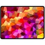 Geometric Fall Pattern Fleece Blanket (Large)  80 x60 Blanket Front