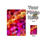 Geometric Fall Pattern Playing Cards 54 (Mini)  Front - Heart6
