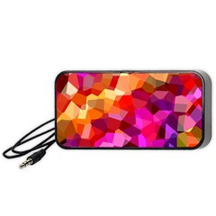 Geometric Fall Pattern Portable Speaker (black)  by DanaeStudio