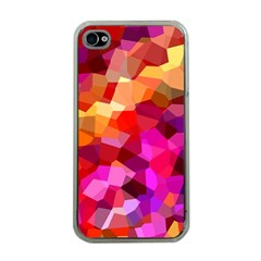 Geometric Fall Pattern Apple Iphone 4 Case (clear) by DanaeStudio