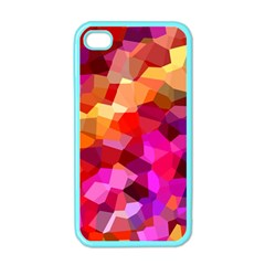 Geometric Fall Pattern Apple Iphone 4 Case (color) by DanaeStudio