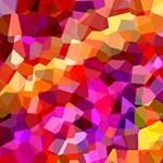 Geometric Fall Pattern MOM 3D Greeting Card (8x4) Inside