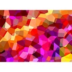 Geometric Fall Pattern Heart 3D Greeting Card (7x5) Back
