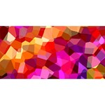 Geometric Fall Pattern Twin Heart Bottom 3D Greeting Card (8x4) Back
