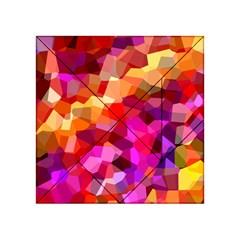 Geometric Fall Pattern Acrylic Tangram Puzzle (4  X 4 ) by DanaeStudio