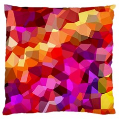 Geometric Fall Pattern Large Cushion Case (two Sides) by DanaeStudio
