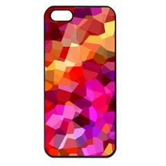 Geometric Fall Pattern Apple Iphone 5 Seamless Case (black) by DanaeStudio