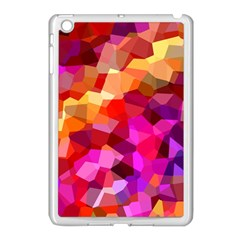 Geometric Fall Pattern Apple Ipad Mini Case (white) by DanaeStudio