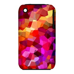 Geometric Fall Pattern Apple Iphone 3g/3gs Hardshell Case (pc+silicone) by DanaeStudio