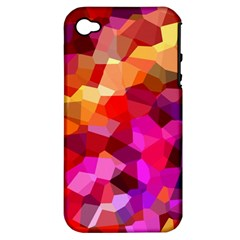 Geometric Fall Pattern Apple Iphone 4/4s Hardshell Case (pc+silicone) by DanaeStudio
