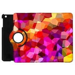 Geometric Fall Pattern Apple Ipad Mini Flip 360 Case by DanaeStudio