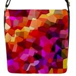 Geometric Fall Pattern Flap Messenger Bag (S)