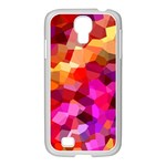 Geometric Fall Pattern Samsung GALAXY S4 I9500/ I9505 Case (White) Front