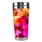 Geometric Fall Pattern Stainless Steel Travel Tumblers Center