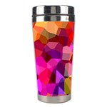 Geometric Fall Pattern Stainless Steel Travel Tumblers Right