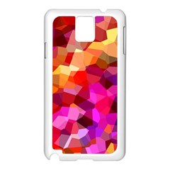 Geometric Fall Pattern Samsung Galaxy Note 3 N9005 Case (white) by DanaeStudio