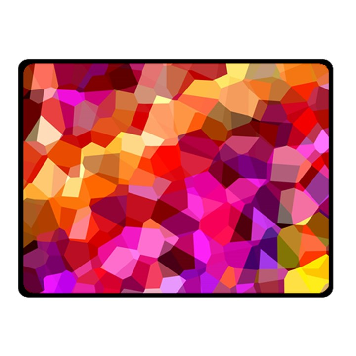 Geometric Fall Pattern Double Sided Fleece Blanket (Small)