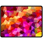 Geometric Fall Pattern Double Sided Fleece Blanket (Large)  80 x60 Blanket Front