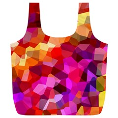 Geometric Fall Pattern Full Print Recycle Bags (l)  by DanaeStudio