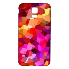 Geometric Fall Pattern Samsung Galaxy S5 Back Case (white)