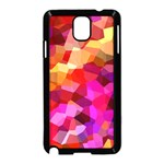 Geometric Fall Pattern Samsung Galaxy Note 3 Neo Hardshell Case (Black) Front