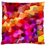 Geometric Fall Pattern Standard Flano Cushion Case (One Side) Front