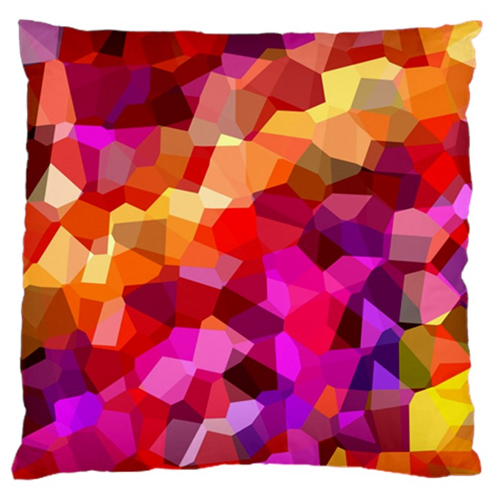 Geometric Fall Pattern Large Flano Cushion Case (One Side)