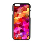Geometric Fall Pattern Apple iPhone 6/6S Black Enamel Case