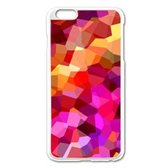 Geometric Fall Pattern Apple Iphone 6 Plus/6s Plus Enamel White Case