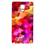Geometric Fall Pattern Galaxy Note 4 Back Case Front